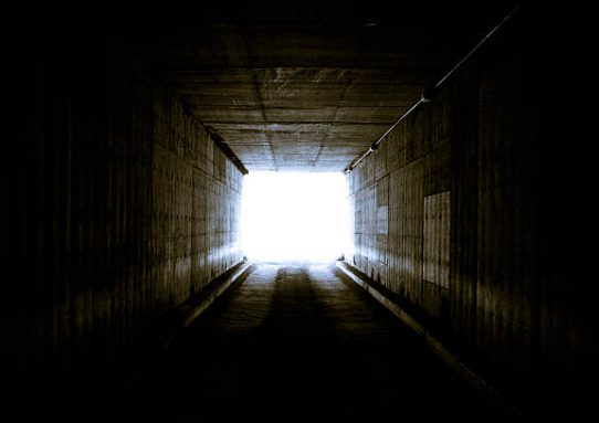 The light at the end of the tunnel-hope